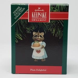 Hallmark 1991 Plum Delightful Ornament